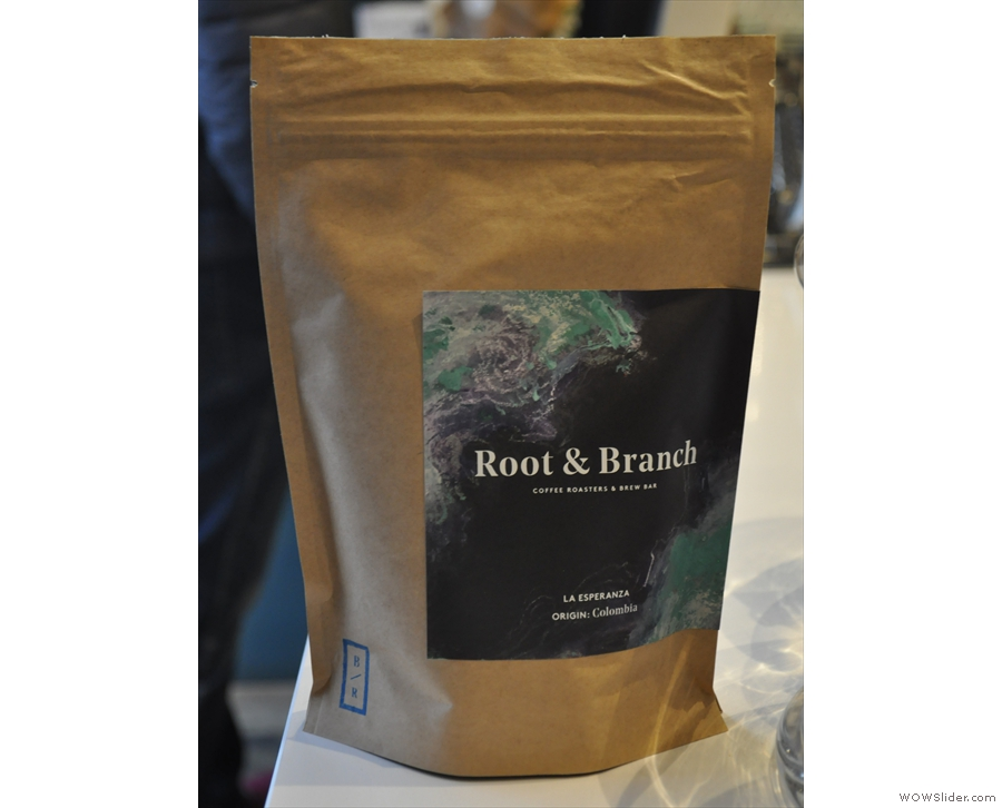 There are usually three single-origins on filter. During my visit there was this Colombian...