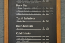 However, it's really about the coffee, with a concise menu on the wall behind the counter.