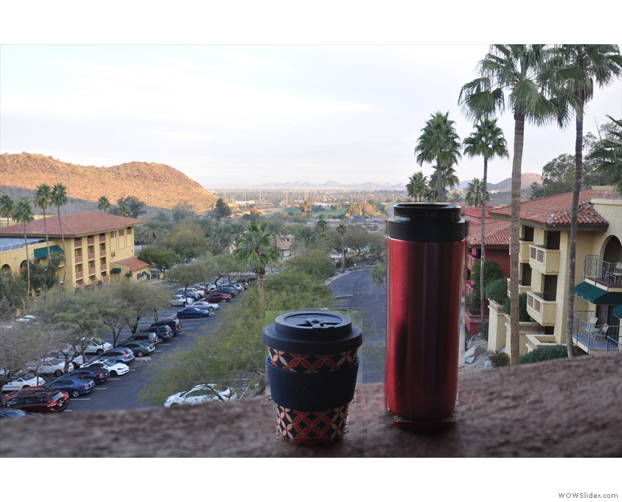 Once again, my coffee gets the best views!