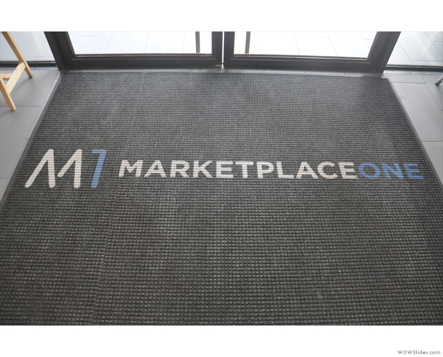 The doors lead into Marketplace One, home of co-working space, The Department.