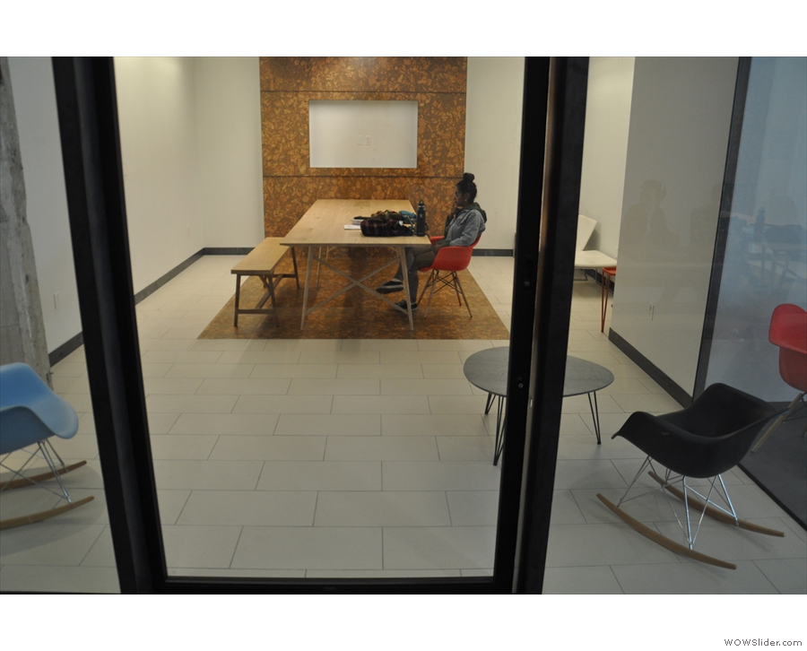 ... plus an office-like space that's used for meetings.