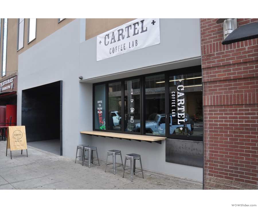 Right in the centre of downtown Phoenix stands an ouotpost of Cartel Cofee Lab.
