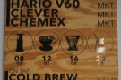 The filter choice is particularly impressive: Aeropress, V60, Clever Dripper & Chemex.