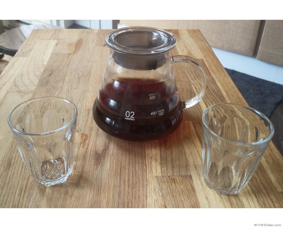 There was more coffee: a Colombian Los Naranjos from North Star through the Chemex.