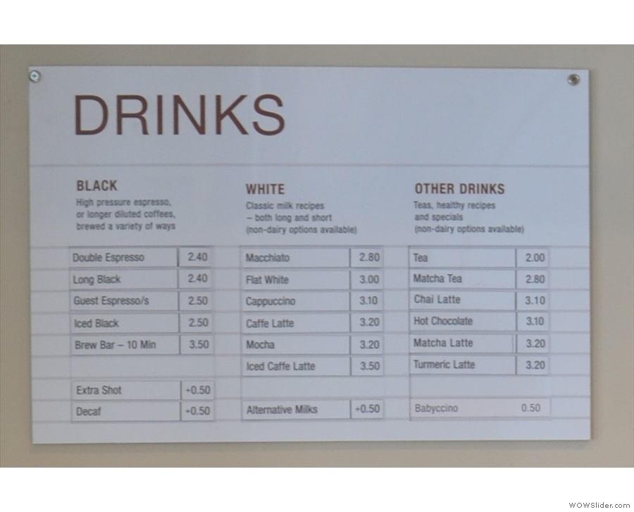 There's a handy distinction between black drinks, white drinks, and everything else.