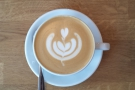 Check out the latte art!