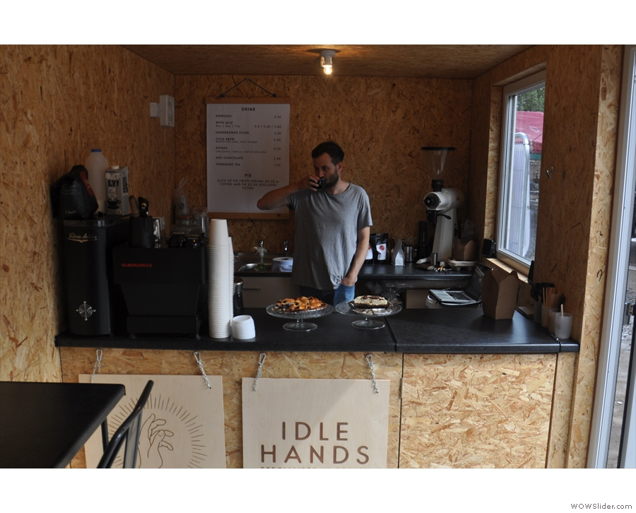 This is Dave, one half of Idle Hands, behind the counter. Cheers, Dave!