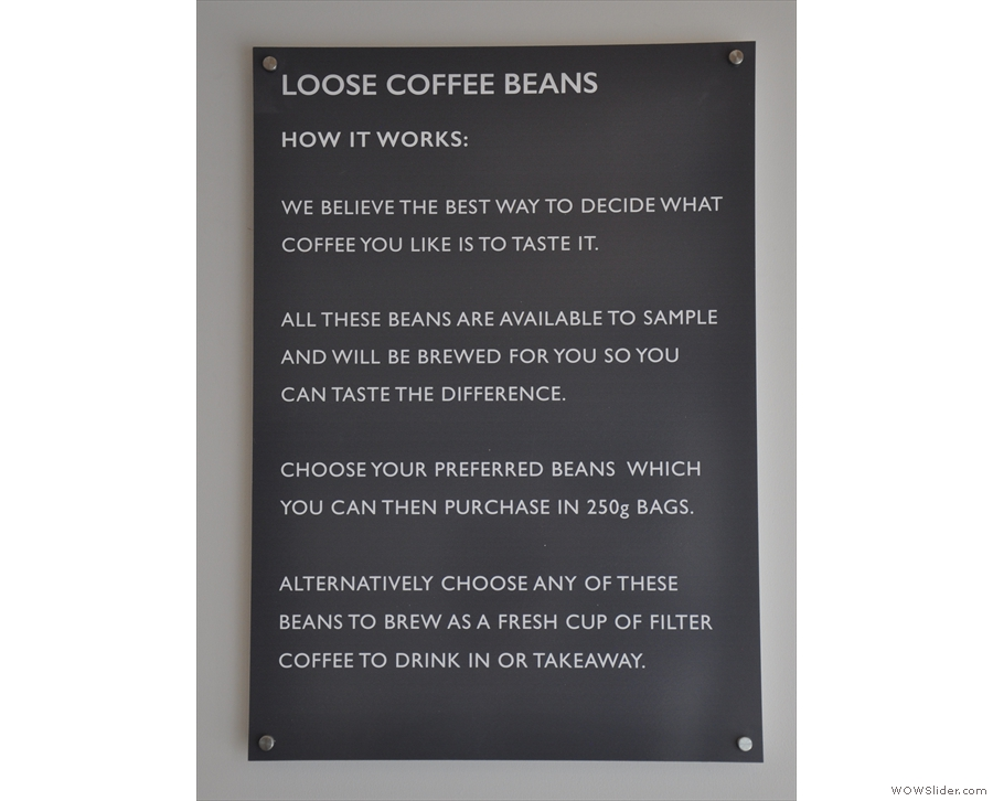 If you want filter coffee, there's another helpful sign to explain it all.