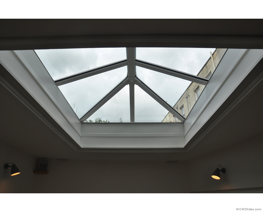 ... which is also very bright due to this skylight.