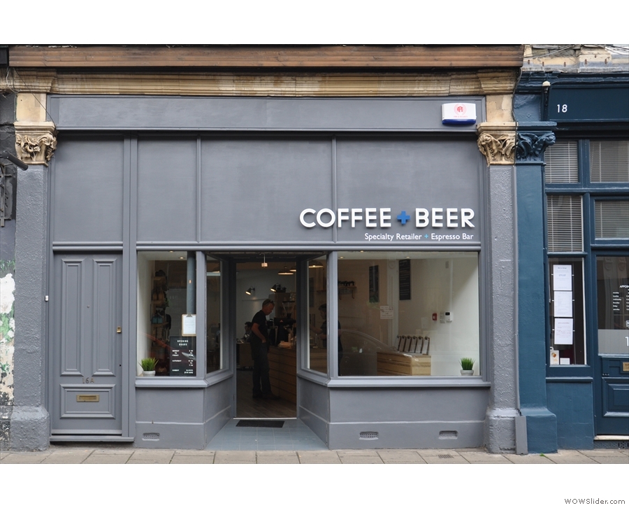 A new arrival on Bristol's Cotham Hill, the aptly-named Coffee + Beer.