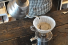 ... followed by one single main pour which fills the V60 up to the top.