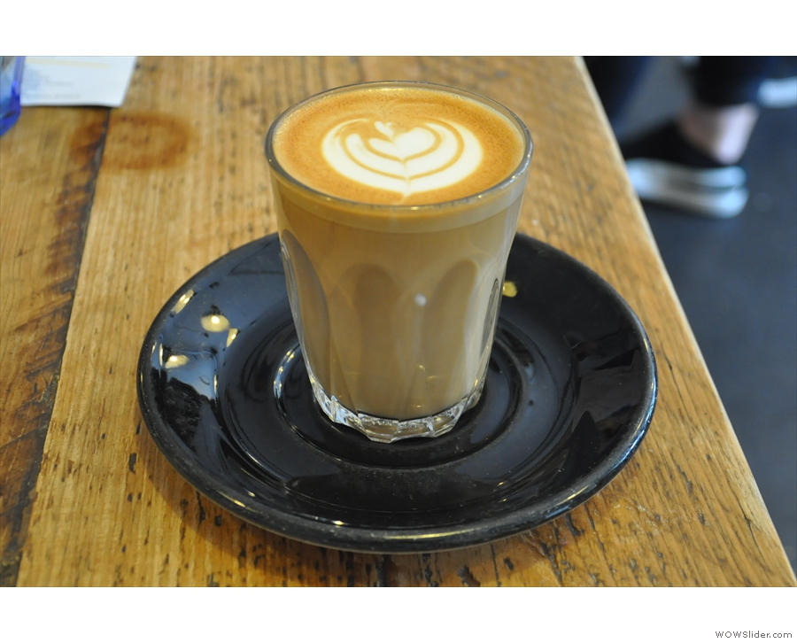I popped in for a flat white, made using a single-origin from Honduras.