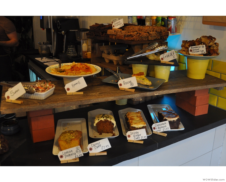 This means you have to walk past the cakes and lunch options...