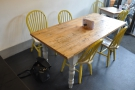 Between it and the counter, this table is great for sharing.
