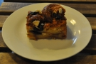... which I paired with an awesome blueberry and almond croissant cake.