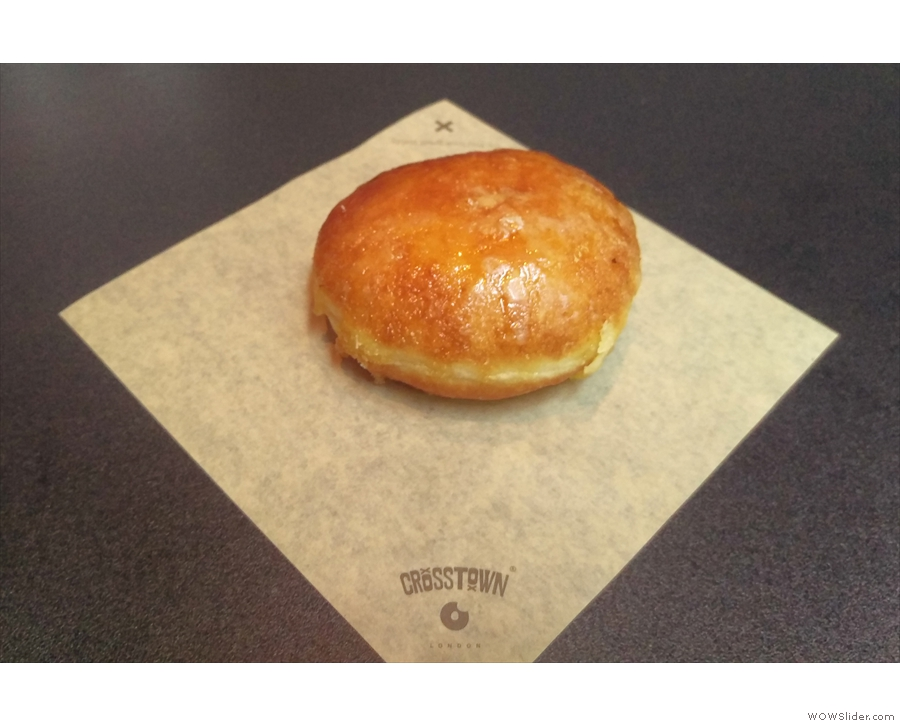 Naturally enough, I also had a doughnut, a crème brûlée one.