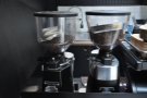 ... where you'll find the two grinders, with the Market Blend and single-origin guest.