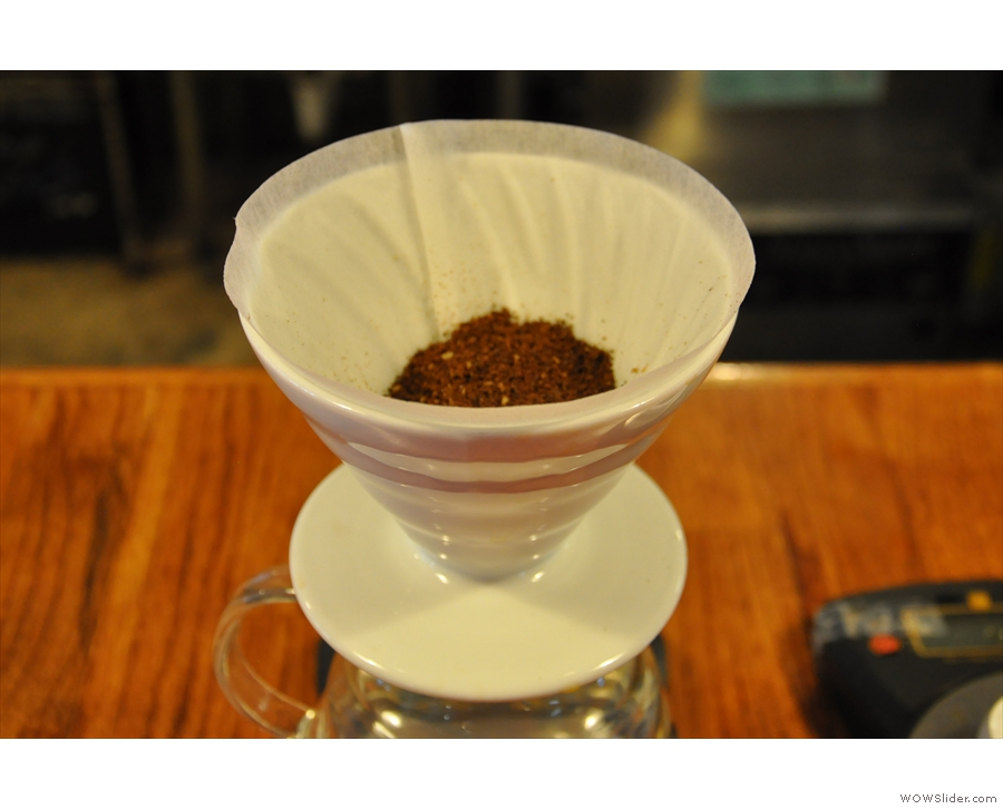 I was going for an 8oz V60 of the Ethiopian Sidama, by the way.
