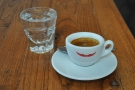 I had the Planadas Colombian as an espresso, served with a glass of sparkling water.