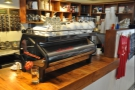 I started with something from the espresso machine, a very shiny La Marzocco Strada.