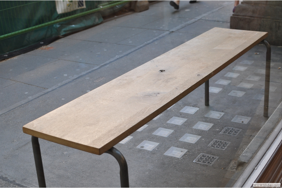 There's a bench outside, should you want it.