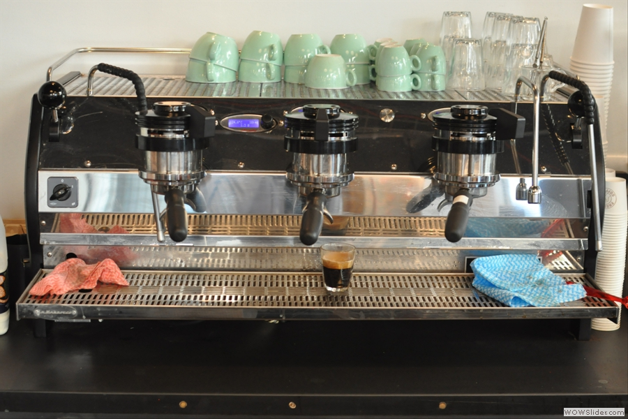 I had quite a lot of coffee that day: here preparations are being made for my cortado.