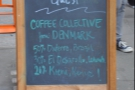 The other side proudly proclaims the guest coffee