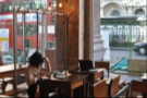 The main seating area, as seen from the Brew Bar at the back.