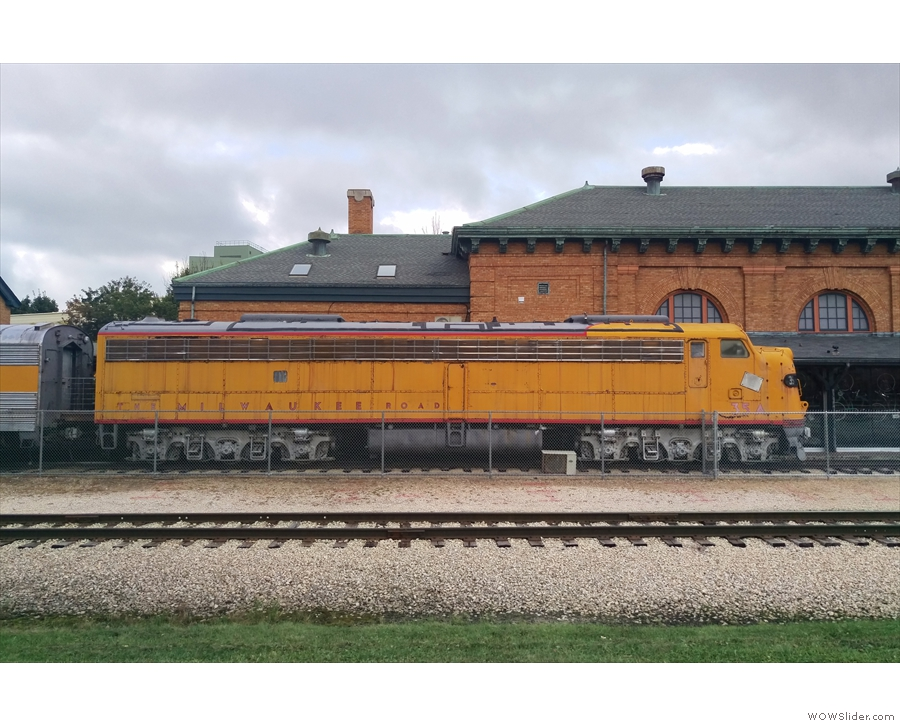 ... and an old locomotive pullled up at the platform of the old station.