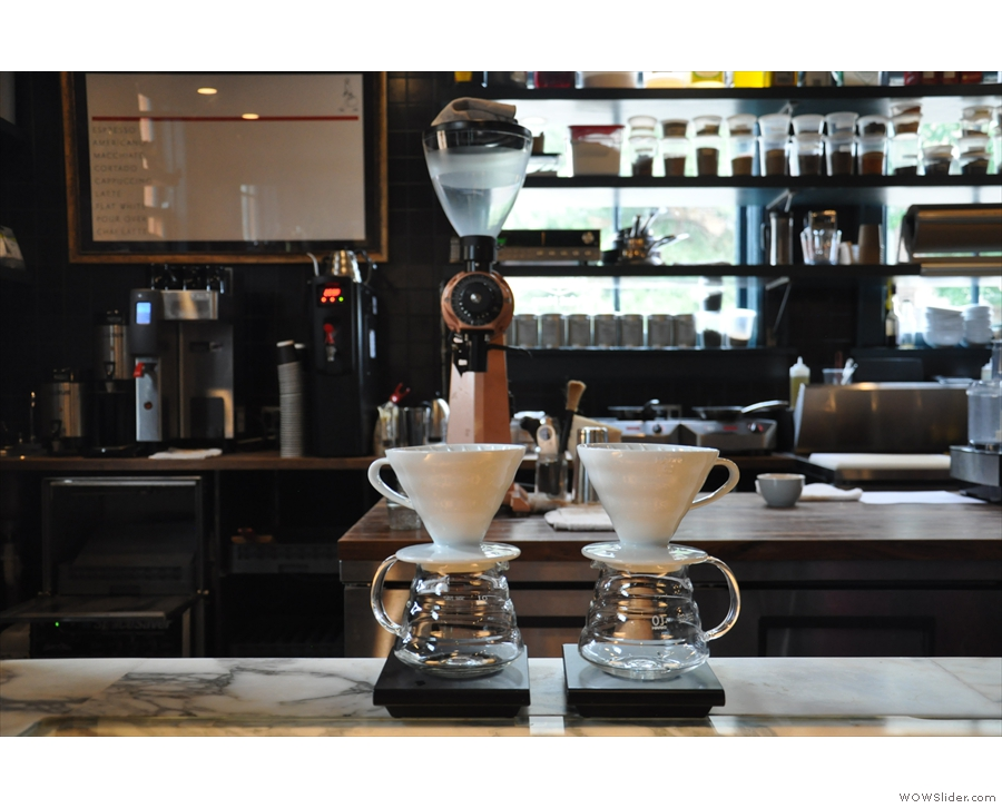 ... with the pour-over set-up above.