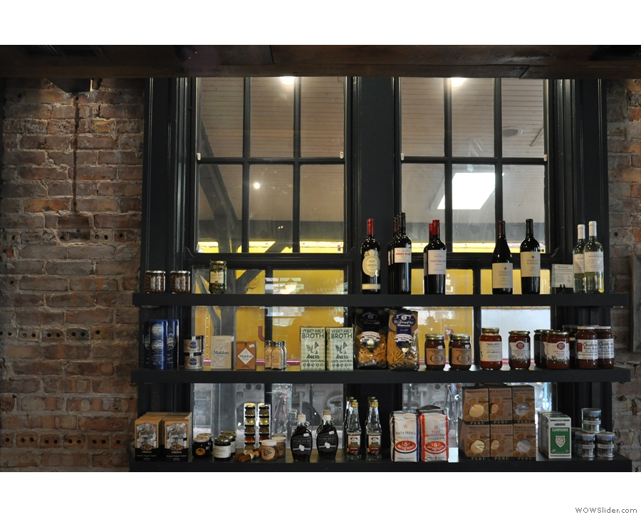 ... plus another row of shelves along the windows at the front of Porter.