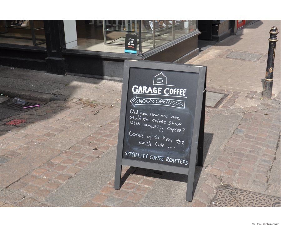 Wandering down on Canterbury's magnificent High Street, an A-board catches the eye.