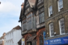 This is Canterbury's magnificent High Street, by the way. Look at that building!