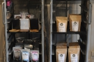 There's coffee, coffee-kit and tea all for sale.