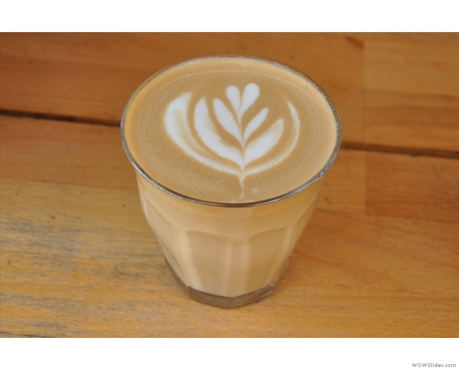 And there we have it. One lovely flat white.
