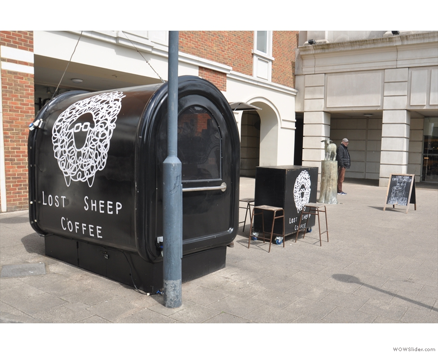 The pod (home to Lost Sheep Coffee) and lamb together in one shot.