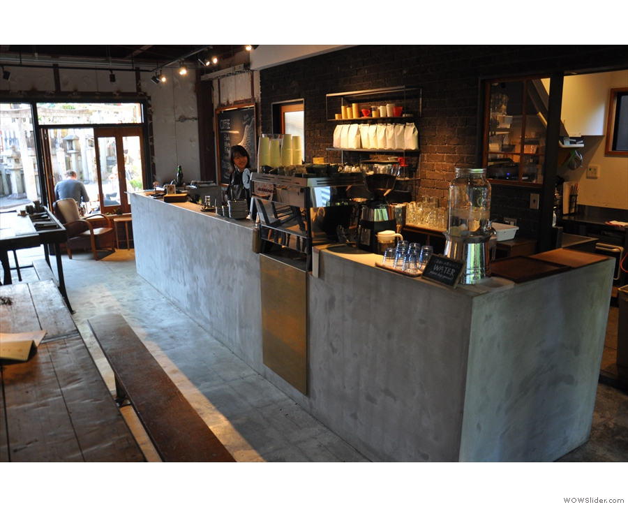 A view of the counter from the back.