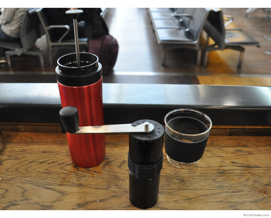 ... my new Knock Aergrind and make myself some coffee before boarding the flight...