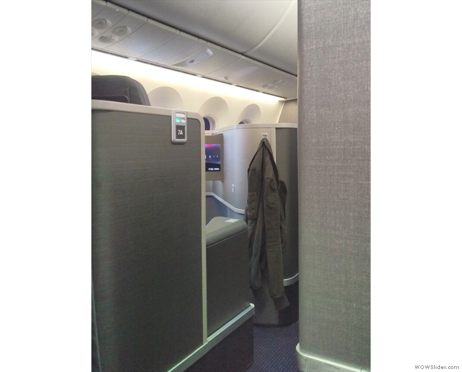 This is right next to the (very small) business class section at the front of the plane.