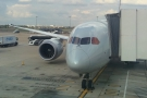 My ride to Chicago, an American Airlines Boeing 787-800, at the stand at Terminal 3.
