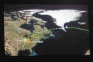 We had a near miss with Greenland as we reached the halfway point of our flight.