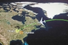 Landfall, somewhere over Canada. Always makes me think I'm almost there (3 hours left!)