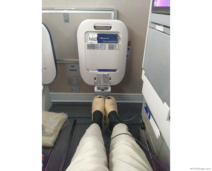 Look at that leg room! So much space when comapared to economy.