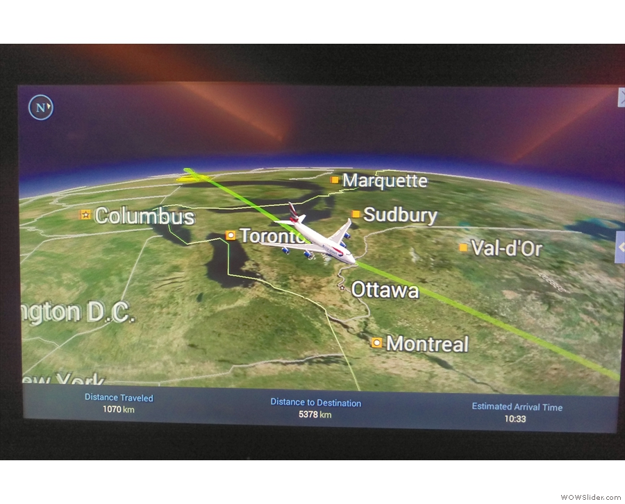 The flight map on the entertainment system was really funky.