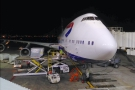 My ride home: a Boeing 747. I always forget how big they are until I'm up close to one.