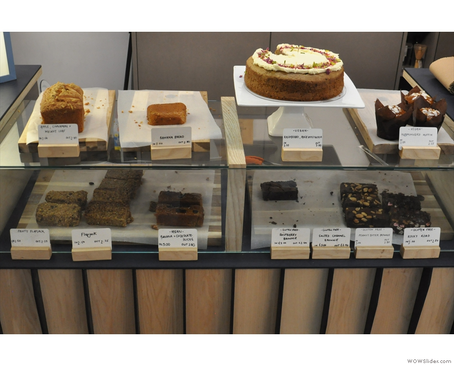 ... where you'll also find a generous selection of cake.