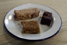 I was with two friends, so we made our own mini-cake selection: flapjack, brownie & loaf.