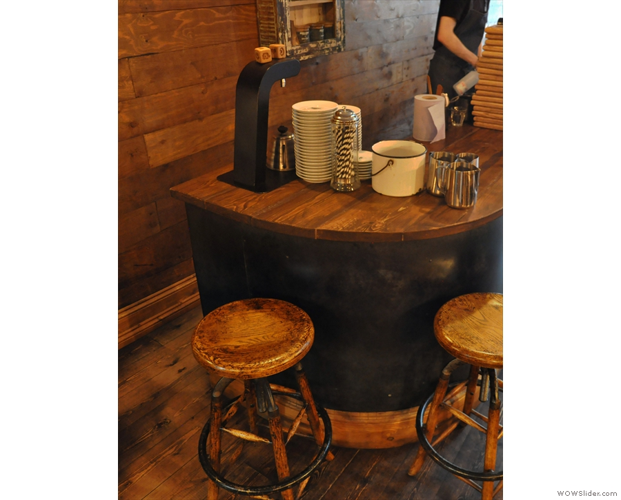... which brings us to the top of the counter, and two neat barstools.