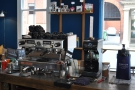 ... from where you can see the espresso machine in action.