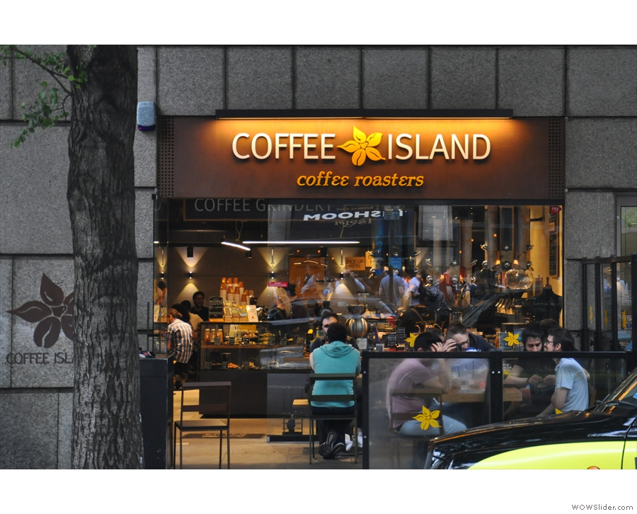 On London's Upper St Martin's Lane, you'll find, on the left-hand side, Coffee Island.